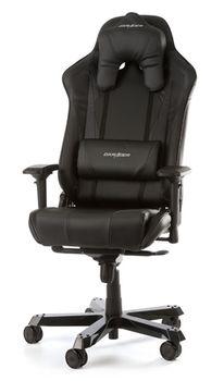Gaming Chairs DXRacer - Sentinel GC-S28-N-J4, Black/Black/Black - PU & PVC leather, Gamer weight up to 160kg/growth 180-205cm, Foam Density 54kg/m3, 5-star Wide Alum Base, Gas Lift 4 Class, Recline 90*-120*,Armrests:4D, Pillow-2,Caster-3*PU,W-30,45kg