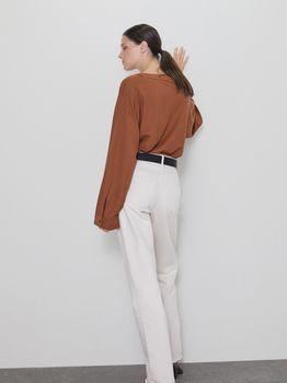 Блуза ZARA Коричневый 0858/630/745
