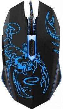купить Mouse Esperanza SCORPIO MX203, Gaming mouse, 2400dpi, optical sensor, blue LED, USB braided cable в Кишинёве