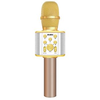 SVEN MK-950, Microphone for karaoke, white-gold (6W, Bluetooth, microSD, 1200mA*h)