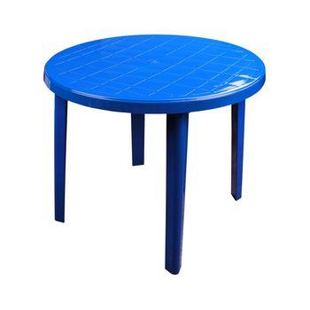 купить Стол круглый пластиковый (900х900х750)(синий) М2663 в Кишинёве