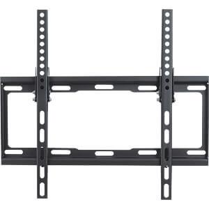 "TV-Wall Mount for 26-52"" - PureMounts ""BT400"", Tilted, up to 35kg, Tilt: 0/ -14°,  25mm wall distance, max.VESA 400x400, Steel black"