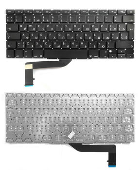 "Keyboard Apple Macbook Pro 15"" A1398 w/o frame ""ENTER""-big ENG/RU Black"