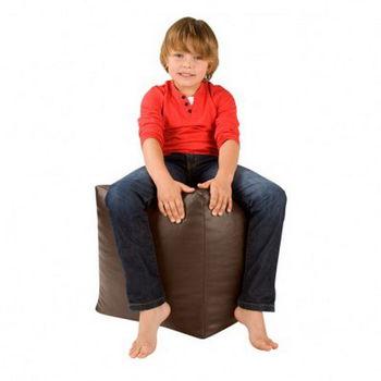 Bean bag Poof CUB Brown Пуфик подставка Куб