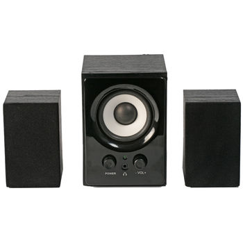SVEN MS-80 Black,  2.1 / 5W + 2x1W RMS, volume level control, magnetic shielding, headphones jack, wooden