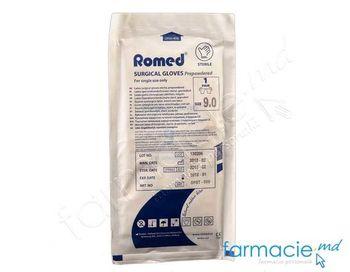 купить Manusi sterile chirurgicale latex cu talc N8.5, pereche (cod opst-085)(Romed) в Кишинёве