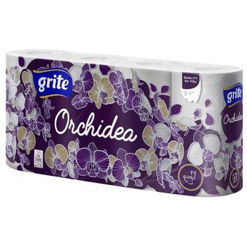 GRITE - Туалетная бумага ORCHIDEA GOLD 3 слоя 8 рулона 21,25м