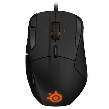 STEELSERIES Rival 500 / Ergonomic Gaming Mouse, 16000dpi, 15 buttons, Optical sensor (Pixart PMW3360), 16.8M color lighting, Customizable Tactile Alerts, Reinforced left and right switches, SteelSeries Engine 3, Cable lenght 2m, USB, Black