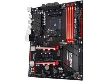 GIGABYTE GA-AX370-Gaming K3, Socket AM4, AMD X370, Dual 4xDDR4-3200, APU AMD graphics, HDMI, 2xPCIe X16, 8xSATA3, RAID, 1xM.2, 2xSATA Express, ALC1220 HDA, Gigabit LAN, 2xUSB3.1, 10xUSB3.0, Ambient LED, ATX