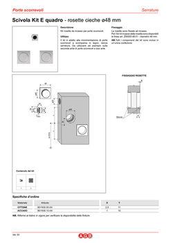 Комплект ручек для раздвижных дверей B019301032 хром сатин