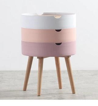 cumpără Masa de cafea din plastic cu picioare din lemn 1200x800x750mm roz în Chișinău