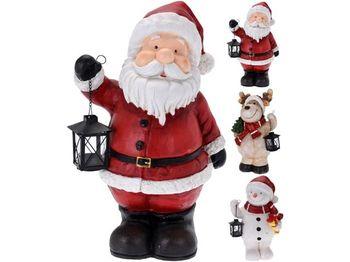 Сувенир керамический Дед мороз/олень/снеговик с фонарем 48cm