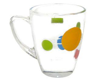 Чашка стеклянная с рисунком 300ml