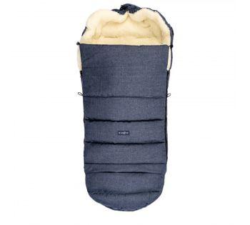 Конверт прогулочный из натуральной шерсти Womar Zaffiro IGrow Wool Blue