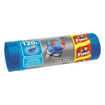 купить Fino Пакеты для мусора с затяжками 120 л, 15 шт. в Кишинёве