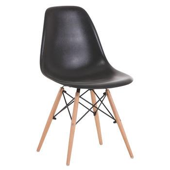 купить Деревянный стул с металлическими ножками, 500x460x450x820 мм, черный в Кишинёве