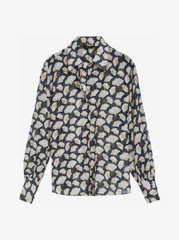 Блуза Massimo Dutti Синий/бежевый 5109/827/932