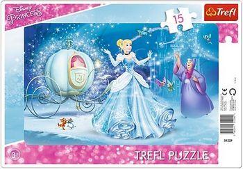 "31229 Trefl Puzzles-""15Frame""-Magical night / Disney Princess"