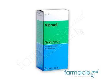 купить Виброцил спрей наз., раствоор 0,25 мг + 2,5 мг / мл 10 мл № 1 в Кишинёве
