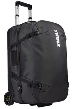 Travel Bag - THULE Subterra Rolling Split Duffel, Dark Shadow, 800D Nylon, Dimensions 36 x 37 x 55 cm, Weight 3.45 kg, Volume 56L, Innovative 3-in-1 solution allows you to pack either one large checked piece of luggage or two smaller carry-ons