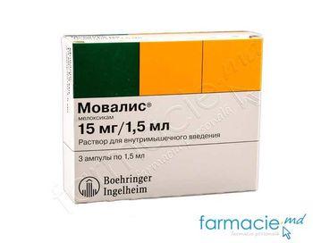 купить Мовалис, инъекционный раствор 15 мг/1.5 мл N3 в Кишинёве