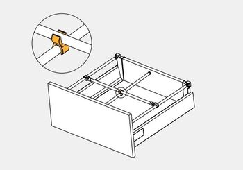 Conector alb pentru reling transversal MB