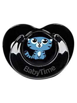 Пустышка Baby Time BT153 Black Body с силиконовой бусиной и защитной крышкой №2