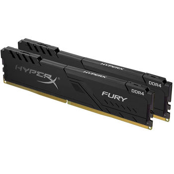 Memorie operativa 32GB DDR4 Dual-Channel Kit Kingston HyperX FURY Black HX436C18FB4K2/32 (2x16GB) DDR4 PC4-28800 3600MHz CL18, Retail (memorie/память)