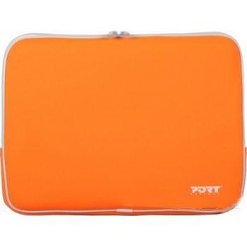 "PORT Skin Line/MIAMI SKIN ORANGE/15.4"" Skin-neopren skin protection for notebook-without, Back pocket"
