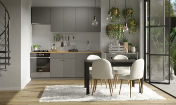 Кухня 2200 МДФ Тёмно-серый