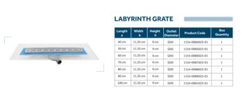 Линейный слив трап для душа Line 2 100cm Shower drain labyrinth