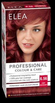 Краска для волос,SOLVEX Elea, 138 мл., 6.56 - Светлый махагон