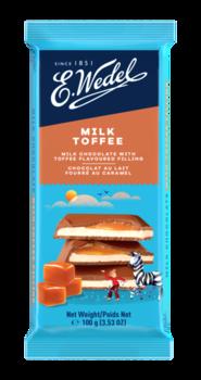 купить Молочный шоколад Wedel Toffee, 100г в Кишинёве