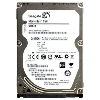 "2.5"" HDD 500GB  Seagate ST500LM021, Laptop Thin™, 7200rpm, 32MB, 7mm, SATAIII"