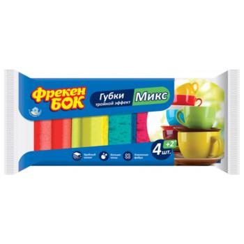 купить Губки для мытья посуды Фрекен Бок Mix, 4+2 шт. в Кишинёве
