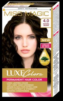 Краска для волос,SOLVEX Miss Magic Luxe Colors, 108 мл., 4.0 - Натуральный коричневый