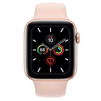 купить Apple Watch Series 5 44mm/Gold Aluminium Case With Pink Sand Sport Band, MWVE2 GPS в Кишинёве
