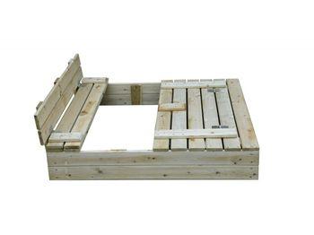 купить Деревянная песочница 120*120 см. в Кишинёве