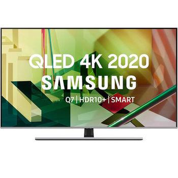 """Televizor 55"""" QLED TV Samsung QE55Q77TAUXUA, Silver (3840x2160 UHD, SMART TV, PQI 3300Hz, DVB-T/T2/C/S2)"""