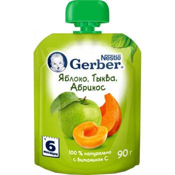 cumpără Gerber piure din mere, caise și dovleac 6+ luni, 90 g în Chișinău