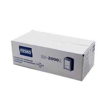 Салфетки Fesko для диспенсера, 1 слой, 2000 листов (белые).