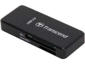 """Card Reader All-in-1 Transcend """"TS-RDF5K""""  Black USB2.0/3.0"""