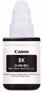 Ink Bottle Canon GI-490 Bk, black, 135ml for PIXMA G1400/G2400/G3400
