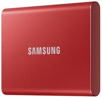 купить Внешний SSD диск Samsung T7 1Tb, Red в Кишинёве