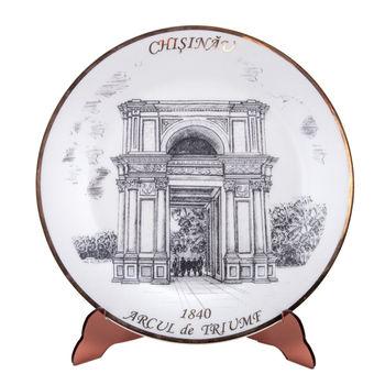 cumpără Farfurie decorativă - Arcul de triumf (Chișinău) în Chișinău