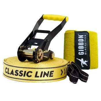 купить Слэклайн Gibbon Classic Line X13 XL - Tree Pro Set 25m 5cm, yellow, GBSLX13XL25TPSCL в Кишинёве