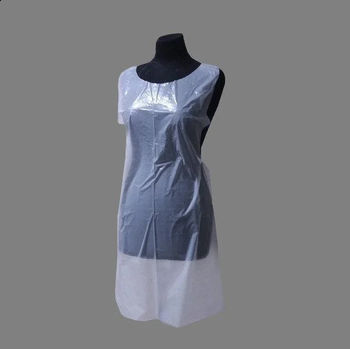 Фартук полиэтиленовый прозрачный 120 х 70 см (50 шт) DEWAL 01-626