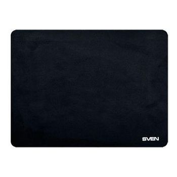 SVEN HP, Mouse pad, Dimensions: 300 x 225 x 1mm, Material: flock fabric + foam rubbers, Rubberized non-slip base, Black