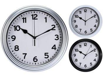 """Ceas de perete """"Clasic"""" D22.3, H3.8cm, plastic, negru/alb"""