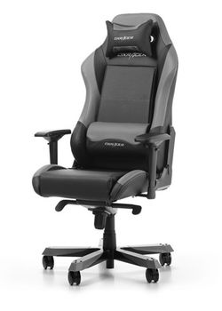 Gaming Chairs DXRacer - Iron GC-I11-NG-S4, Black/Gray/Black - PU leather & PVC leather,Gamer weight up to 130kg / growth 160-195cm, Foam Density 52kg/m3, 5-star Wide Alum Base,Gas Lift 4 Class,Recline 90*-135*,Armrests:4D,Pillow-2,Caster-3*PU,W-30kg